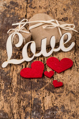 hearts and gifts for love