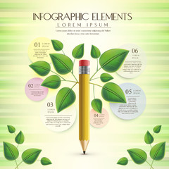 creative and ecology template with pencil element
