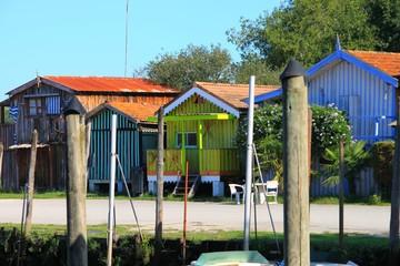 Cabanes de pêcheurs, Biganos Wall mural