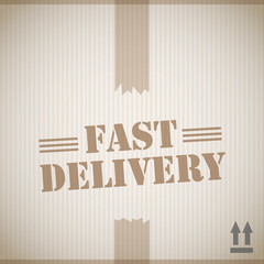 Fast delivery cardboard box