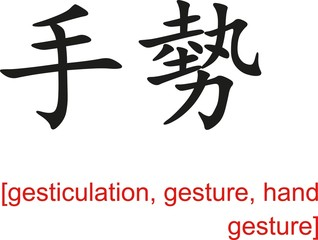 Chinese Sign for gesticulation, gesture, hand gesture