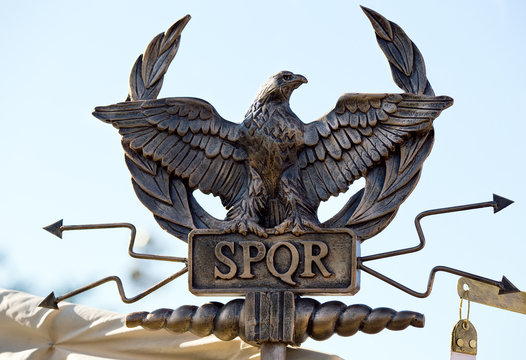 SPQR eagle scepter