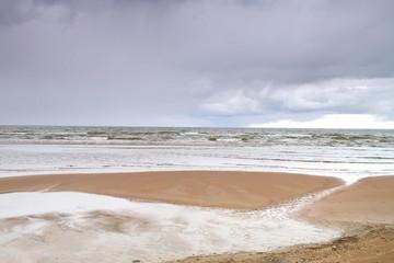 autumn beach of the Baltic Sea