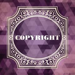 Copyright. Vintage Design Concept.