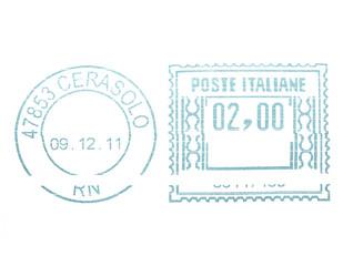 Postage meter stamp