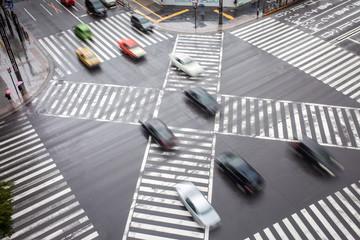 Fotomurales - Straßenkreuzung in Tokio