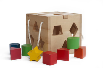Kid's shape blocks