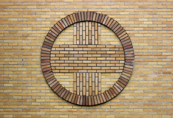Cross Symbol On A Church Wall