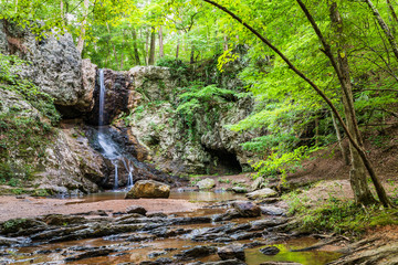Waterfall in Georgia mountains near Atlanta