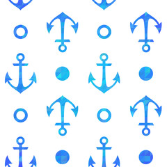 Stylish geometric seamless nautical pattern