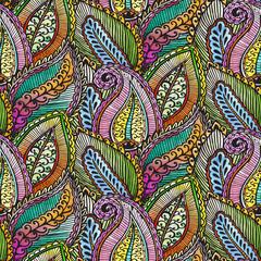 Seamless ethnic pattern black