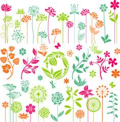 Colorful floral set II