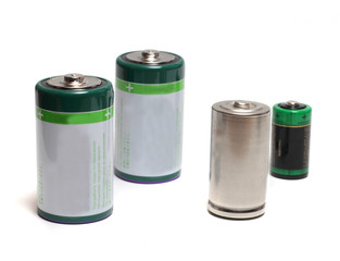 group of four batteries
