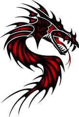 Tattoo red dragon