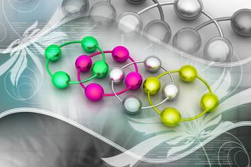 abstract molecule icon set