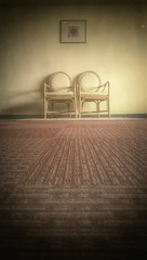 Only two chairs in vintage style