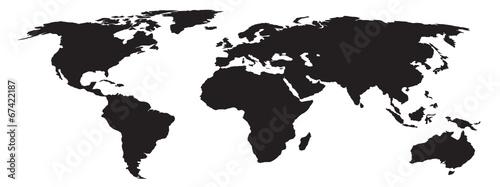 weltkarte silhouette Silhouette der Weltkarte