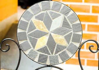 Garden mosaic stone chair