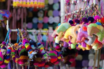colorful elephant decoration keychian