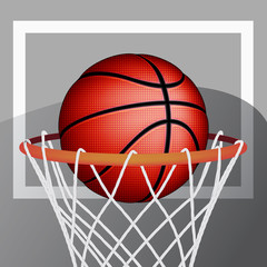 Basketball ball, vector