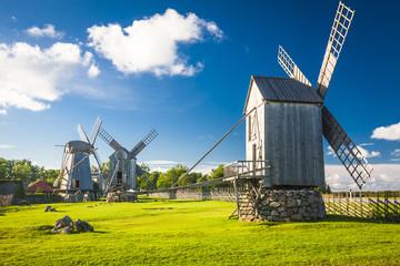wooden windmill in Angla, Saaremaa island, Estonia