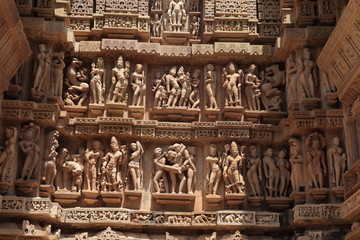 Die Tempelstadt Khajuraho in Indien