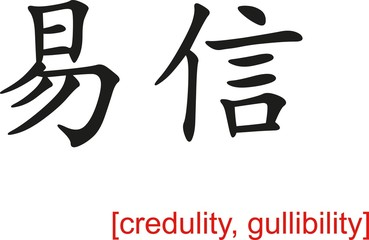 Chinese Sign for credulity, gullibility