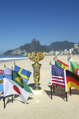 International Football Country Flags Trophy Rio Brazil