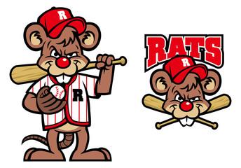 baseball rats mascot