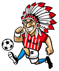indian chief soccer mascot