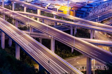 Yantian port overpass