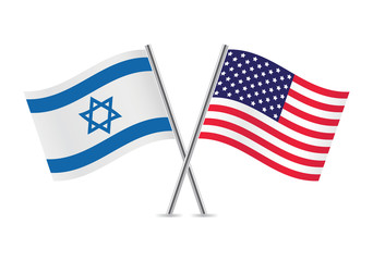 United States and Israel flags.