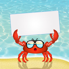 crab with sunglasses