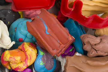 Children bright plasticine
