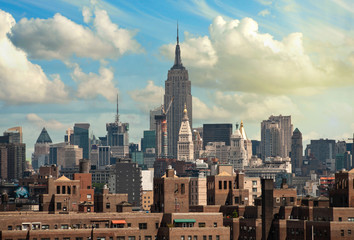 Wall Mural - View of New York City from Brooklyn Bridge