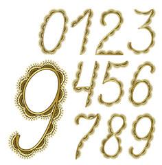 decorative digits for postcard design