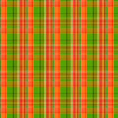 orange and green plaid pattern