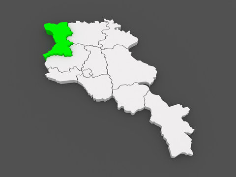Map of Chirac. Armenia.
