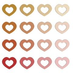 Diverse kleuren hart vormen