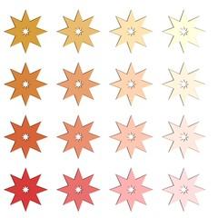 Verschillende kleuren sterren met gat in midden