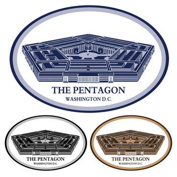 pentagon. detailed illustration vector