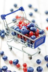 Trolley with berry