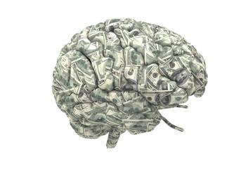 Wall Mural - smart brain can earn more money