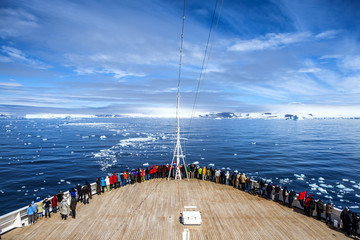 Cruise Ship in Antarctica
