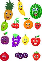 Fruit cartoon character