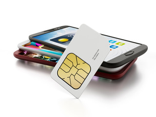 SIM card with smartphones