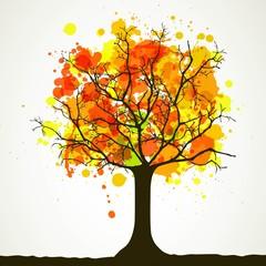 Vector Illustration of an Autumn Background