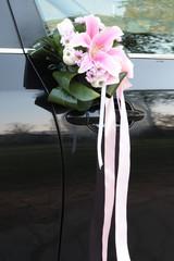 bouquet auto wedding
