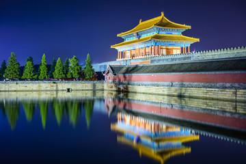Forbidden City gate in Beijing, China