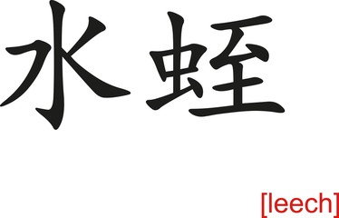 Chinese Sign for leech